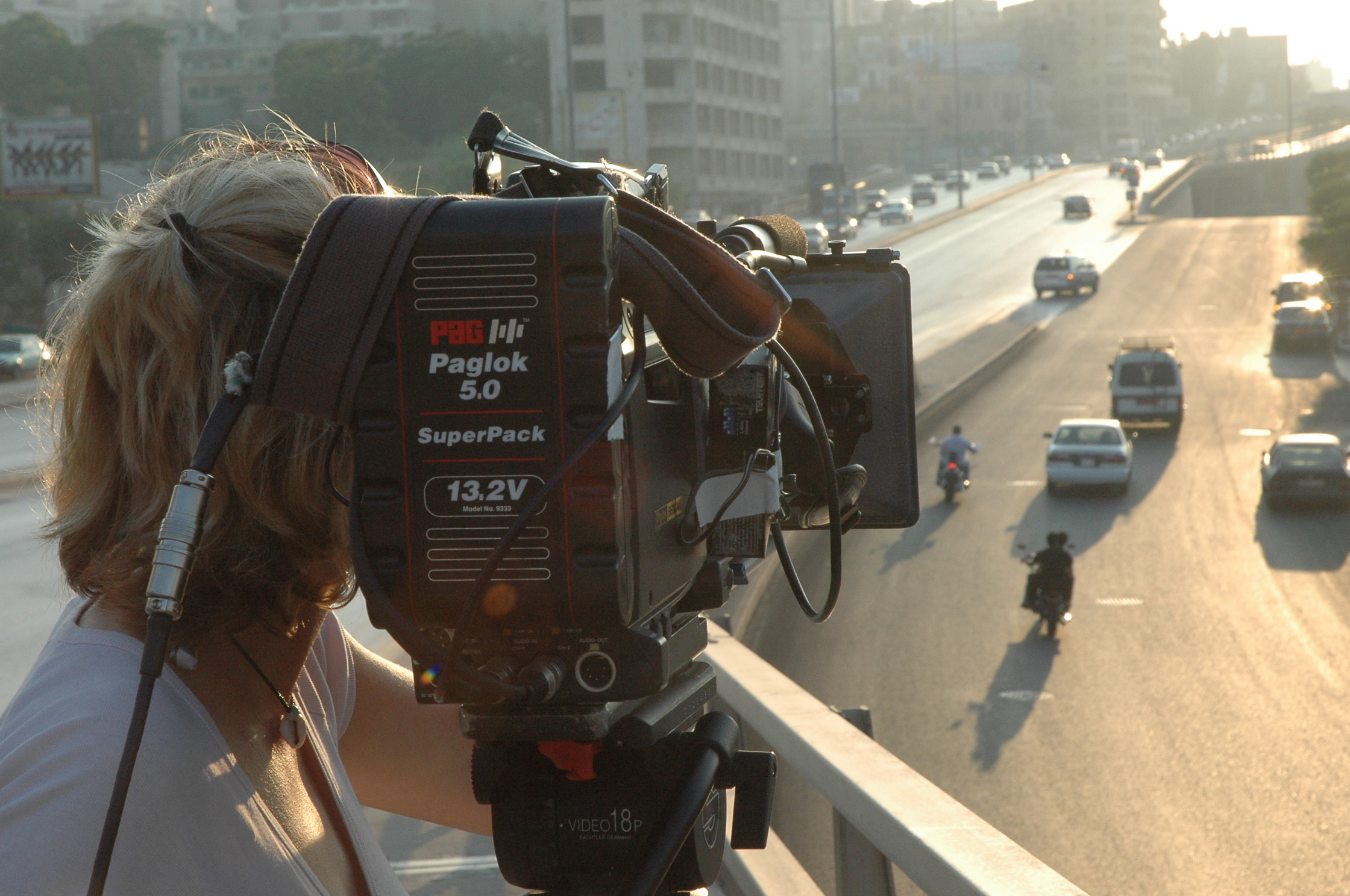 Filming in Beirut