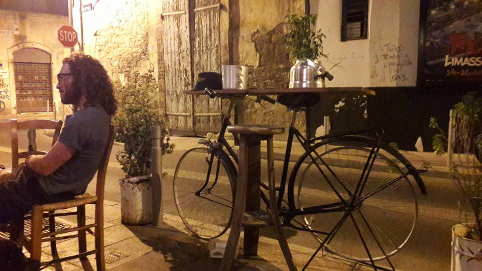 Ghost Bike liberated in Limassol Cyprus sampling the nightlife